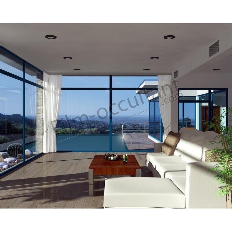 tser 54 miroir film solaire anti chaleur gris bleu. Black Bedroom Furniture Sets. Home Design Ideas