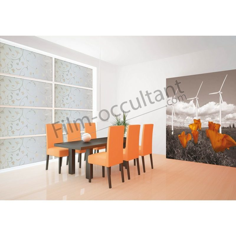 film d coratif repositionnable arabesque film occultant com. Black Bedroom Furniture Sets. Home Design Ideas