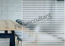 Film decoration bandes degressives pour vitrage