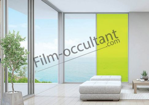 Film decoration adhésif couleur Jaune transparent