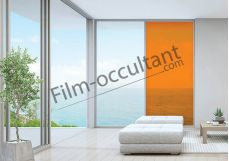 Film decoration adhésif couleur Orange transparent