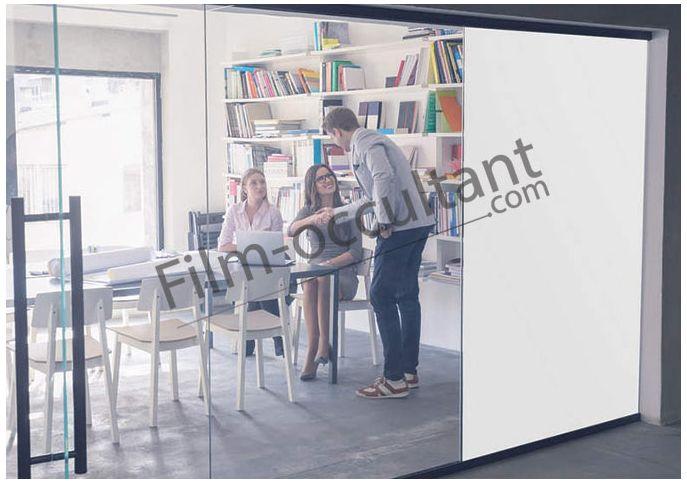 film intimit opaque blanc anti regard pour vitrage film occultant com. Black Bedroom Furniture Sets. Home Design Ideas