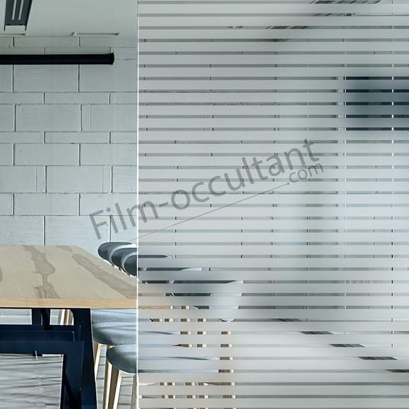 Film décoratif adhésif bandes dépolies 18 mm