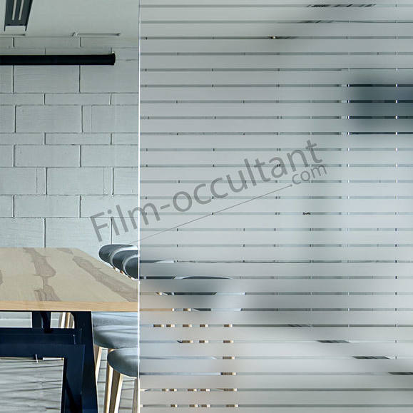Film decoration adhesif bandes depolies 45mm